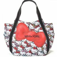 Hello Kitty 40th Anniversary Mothers Tote Bag Lots of kitty & Ribbon 4030