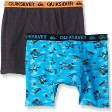 Quiksilver Boys Blue Beach Print 2pk Boxer Briefs Size 4/5 6/7 $18