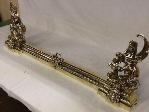 French Brass Fireplace Fender (JW005)