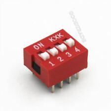 20Pcs Slide Type Switch Module 2.54MM 4-Bit 4 Position Way Dip Red Pitch Z