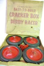 Vintage NOS Cracker Box Derby Racer Soap Box Derby Wheels by Neilson Wheel Co
