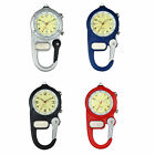 Clip-On Backpack Mountaineering Luminous 24H Quartz Watch With Emergency Light