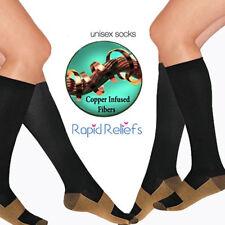 Copper Compression Socks Running Anti Fatigue Varicose Vein Travel Flight Sleeve