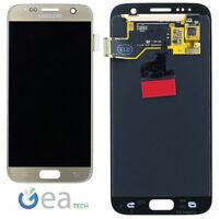 SAMSUNG Display LCD Originale + Touch Screen Per Galaxy S7 SM-G930F Oro Gold
