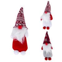 Fj- Hk- Carino Natale Gnomo Bambola Regalo senza Volto Ornamento Albero Ciondolo