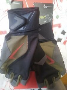 NWT NIKE PREMIUM HEAVYWEIGHT OLIVE WEIGHT LIFTING WEIGHTLIFTING GLOVES LARGE