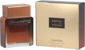 Calvin Klein Euphoria Amber Gold for Men 3.4 oz / 100 ml Eau de parfum