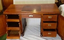Schreibtisch Jugendstil Writing Desk Art Nuveau 1905 Solid Oak Restored