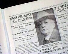 RUDOLF EICKEMEYER JR. American Pictorialism Photographer DEATH 1932 Newspaper