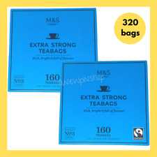 M&S Teabags Extra Strong Strength No 3 320 Bags 2x Boxes Marks & Spencer Food