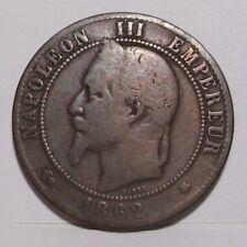 1862-A France 10 Centimes , Fine