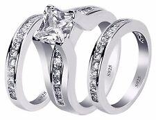 Sterling Silver Wedding Ring Sets Ebay
