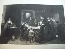 Photogravure Coupil Before The Rehearsal From A Painting By R.L. Zimmerman