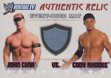 JOHN CENA vs CODY RHODES Topps 2008 Heritage 4 IV WWE EVENT USED RING MAT