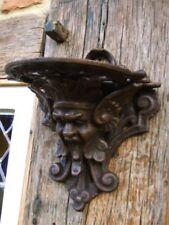Konsole mit Mittelalter Fratze, Regalstützen für Regal, Gargoyle Kerzenhalter