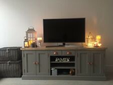 Large 6ft Shaker Farmhouse TV Media Unit Painted In Farrow And Ball Colour Range