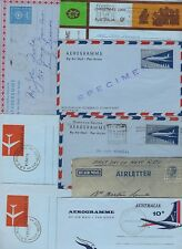 AUSTRALIA 1947 1970 COLLECTION OF 10 DIFFERENT AIR LETTERS INCLUDES FDC SPECIMEN