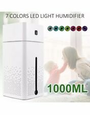 Cute Cactus USB Air Diffuser Humidifier Night Light Up Home Relaxing Defuser UK