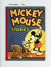 MICKEY MOUSE STORIES #2  FN 1934 - BEAUTIFUL SPINE AND PAGES - FANTASTIC COVER