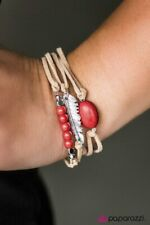 ~Fly High~ Red Feather Bracelet Paparazzi Jewelry
