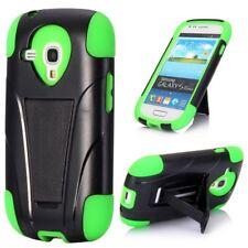 Samsung Galaxy S3 Mini Outdoor Case Silikon Hybrid Kickstand Schutz Hülle Grün