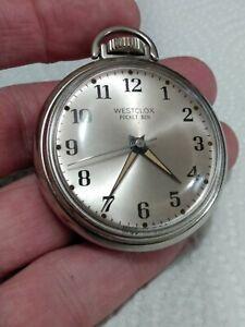Vintage Westclox Pocket Ben Watch, ticks very nice condition