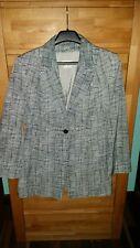 Joop! Damen Blazer Jacke Gr.38 Sommerblazer grau weiß