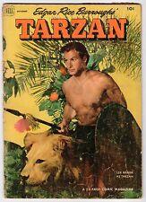 Dell Edgar Rice Burroughs TARZAN #36 Preacher Roe Ad Cover - 1952 Vintage Comic