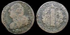 2 SOLS 1792 BB STRASBOURG - LOUIS XVI - 22,64g
