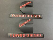2X For Dodge Ram 2500 New Aolly Black Red Cummin Turbo Diesel Emblem Badge Logo
