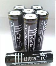 4x  3.7V 6000mAh 18650 Li-ion Rechargeable Battery for Flashlight UltraFire TA