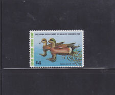 State Hunting/Fishing Revenues - OK - 1988 Duck Stamp OK-9 ($4) - MNH