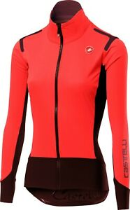 Castelli Women's Alpha RoS Light Long Sleeve Jacket Orange Size Small