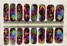 Color Nail Polish Strips, 16ct.  MY CUSTOM ElECTRIC BLOOMS
