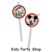 Mickey Mouse Playful Party - 6 Plastic Drinking Straws  - Free Postage in UK