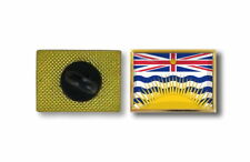 pins pin's flag national badge metal lapel hat button canada british columbia