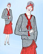 1920s VTG Ladies Home Journal Sewing Pattern 6125 Uncut Misses Flapper Dress 32B