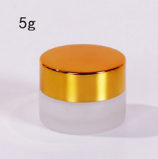 5G Clear Cream Cosmetic Glass Jar With Gold Lid, 5ML cosmetic container