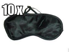 10 x BLACK TRAVEL EYE MASK bulk buy - SLEEP SLEEPING COVER EYEPATCH BLINDFOLD