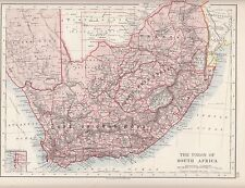 1921 map union south africa cape of Good Hope orange free state