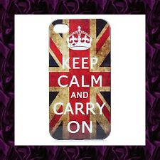 "★★★ Coque ""DRAPEAU UK"" Pour iPhone 4G / 4S ★★★ ""Keep Calm And Carry On"""