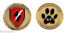 "DOD MILITARY WORKING DOGS SEARCH AND DEFEND  1.75"" CHALLENGE COIN"