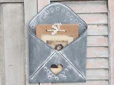 Chic Antique Briefbox Herz Post Briefablage Metall Aufbewahrung vintage u shabby