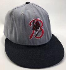 Vintage Buffalo Bisons MILB Fitted Baseball Hat 7 1/8 New Era 59/59 Gray