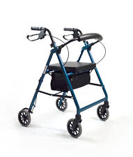 Foldable Rollator Walking Frame Indoor Outdoor Walker Aids Mobility - Blue