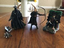Lord of the Rings action figures lot of 3 Frodo Legolas Morgul Lord Witch King!