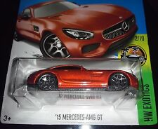HOT WHEELS 2017  EXOTICS #2/10  '15 MERCEDES - AMG GT  (DARK ORANGE)