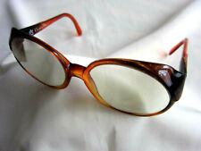 Schwarz /& Hellgelb Klarglas Brille Vtg Rahmen 1980er Form Brille