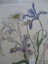 Block Spal Platter Portugal Hillside Artist Mary Lou Goertzen Flower Purple 1981
