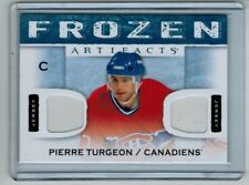 2014-15 UD ARTIFACTS PIERRE TURGEON DUAL JERSEY MONTREAL CANADIENS